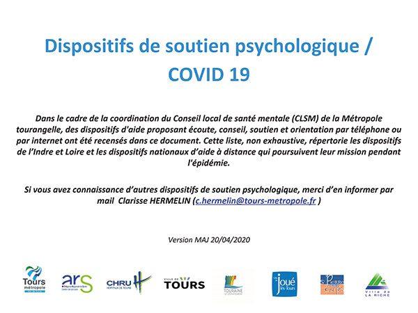 Dispositifs de soutien psychologique / COVID 19